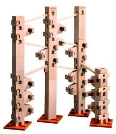 In diesem Kugelbahn-Baukasten sind alle Bauteile und Klangplatten (84 Teile) drin, um die Melodienbahn - Hänschen klein - aufzubauen und abzuspielen. Es gibt auch ein Komplett-Set, mit diesem können alle 12 Melodien vollständig aufgebaut werden.