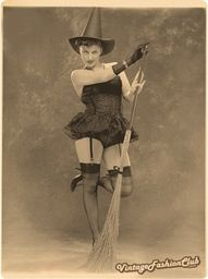 Vintage Sexy Witch Photo