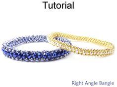 Right Angle Weave RAW Bangle Bracelet Jewelry Making Beading Pattern Tutorial | Simple Bead Patterns