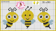 This Pin was discovered by Cec Baby Cross Stitch Patterns, Cute Cross Stitch, Cross Stitch Bird, Cross Stitch Animals, Cross Stitch Charts, Cross Stitch Designs, Cross Stitching, Bee Embroidery, Cross Stitch Embroidery