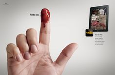 """Feed the news"" - Veja Magazine for iPad Ad"