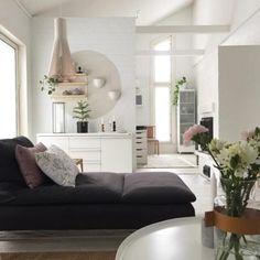 Kotoisaa tunnelmaa olohuoneessa ja paljon ihania yksityiskohtia