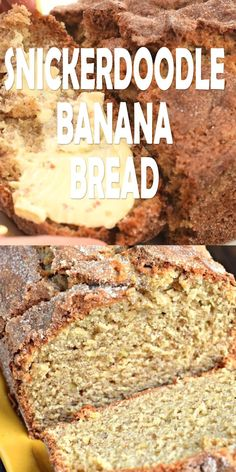 Snickerdoodle Banana Bread – Shugary Sweets Snickerdoodle Banana Bread Take your classic banana bread recipe to the next level! This Snickerdoodle Banana Bread recipe has a crunchy top coating of cinnamon and sugar, a real crowd pleaser! Breakfast Recipes, Dessert Recipes, Desserts, Snickerdoodle Bread, Banana Bread Recipes, Banana Recipes Videos, Overripe Banana Recipes, Cinnamon Banana Bread, Moist Banana Bread