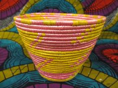 Your place to buy and sell all things handmade Basket Weaving, Hand Weaving, Traditional Bowls, Yellow Bowls, Valentines Day Gifts For Her, Table Centerpieces, Fair Trade, Thoughtful Gifts, Uganda