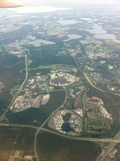 Aerial view of Disney property