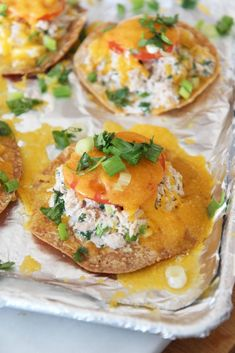Creamy, crispy, crunchy Tuna Melt Tostadas are the perfect easy dinner for a busy day! They come together quickly with just a few ingredients. Enjoy! #tunamelt Cheesy Recipes, Top Recipes, Seafood Recipes, Dinner Recipes Easy Quick, Easy Meals, How To Make Tuna, Tuna Melts, Fast Dinners, 30 Minute Meals
