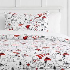 524e3473b6 Peanuts® Holiday Flannel Duvet Cover + Sham  TwinXlBedding Twin Xl Bedding