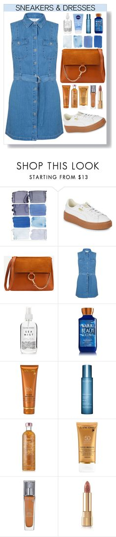"""""""Snakers and Dresses"""" by keepfashion92 ❤ liked on Polyvore featuring Puma, Miss Selfridge, Herbivore, Lancôme, Clarins, Fresh and Dolce&Gabbana"""