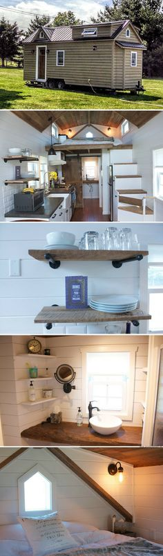 A modern farmhouse, designed and built by Liberation Tiny Homes