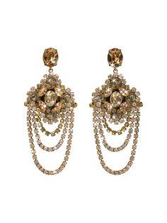 Crystal Chandelier Earrings in Raw Sugar - Sorrelli