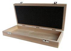 Holzkästchen aus Buche massiv, flache Schatulle 35cm, 16cm, 5,5cm: Amazon.de: Küche & Haushalt