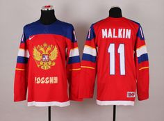 Russia Red 11 Blank 2014 Winter Olympics