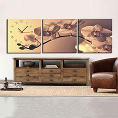 moderne stijl retro wandklok in canvas set van 3 – EUR € 54.54