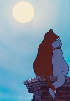 The Aristocats. This Disney movie is extremely underrated, but I love it. Disney Pixar, Arte Disney, Disney Films, Disney And Dreamworks, Disney Cartoons, Disney Magic, Disney Art, Disney Songs, Disney Quotes