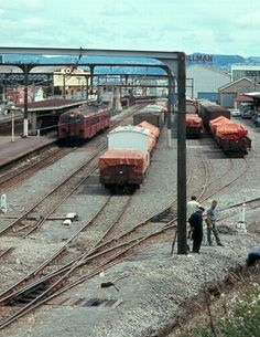 New Zealand Railways, Petone Station & Goods Sidings 1971