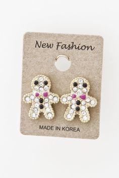 gingerbread man jewelry | Gingerbread Man Earrings