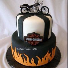 50th birthday cake....have a gathering.. than take him for a trip on the harley??