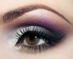 Traditional smokey eye with a hint of purple