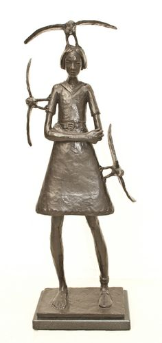 by Grace da Costa, for more visit www.finearts.co.za South African Artists, Bronze Sculpture, Art School, Decorative Bells, Costa, Sculpting, Sculptures, Birds, Kunst