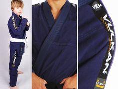 Vulkan Ultra Light Kids Jiu-Jitsu Gi Navy Blue 33203 grappling judo youth ibjjf  #Vulkan