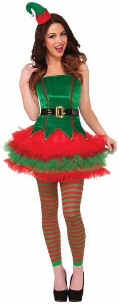 PartyBell.com - #SassyElf Adult Costume