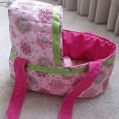 Quilted doll bassinets are awesome soft toys to sew for toddlers. Your little girl will love toting her baby dolls around in this handcrafted toy bassinet. Part 1 of this