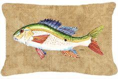 Rainbow Trout Indoor/Outdoor Throw Pillow