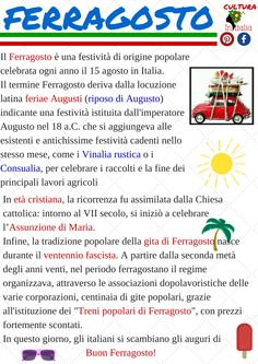 #ferragosto #initalia #italiano #learnitaliano