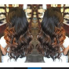 long, pretty, shiny brunette :: RedBloom Salon