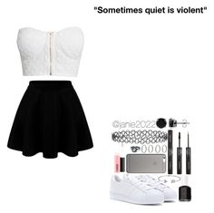 """Sometimes quiet is violent"" by janie2022 ❤ liked on Polyvore featuring NLY Trend, adidas Originals, New Look, Native Union, MAC Cosmetics, Forever 21, BERRICLE, LULUS, Essie and Bling Jewelry"