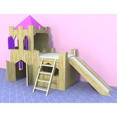 castle bed for a princess Castle Bed, Diy Toys, Girls Bedroom, Living Spaces, Loft, Bed Ideas, Rowan, Kids Rooms, Kid Stuff