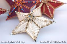 Christmas Ornaments - beaded by PrettyNett.de