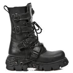 NEW ROCK Stiefel Boots Gothic braun Vegan  M.373-V4