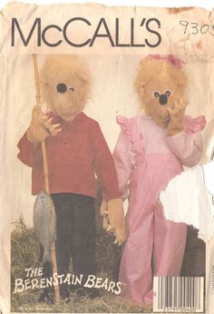 McCalls 9305 1980s Brother Sister BERENSTAIN Bears by mbchills