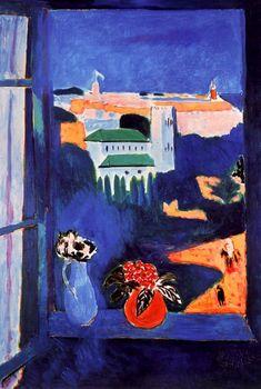 Matisse Henri  Landscape Viewed from a Window1912. Óleo sobre lienzo. 115 x 80 cm.Museo Pushkin de Bellas Artes de Moscú. Moscú. Rusia. Siglo XX. Vanguardias Históricas/Fauvismo