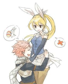 *facepalms* no thats how 30 NaLu babys are made not chocolate eggs Natsu..