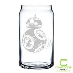 Star Wars - BB-8 - Etched Glass Can  Etched glass home décor is truly timeless or beautiful.  In fact, you can gain all kinds of inspiration and home decoration ideas from using this beautiful glass home décor in every room of your home.  Especially your kitchen, living room and bar areas as they lend to areas family and friends who visit.  Your home can look modern, trendy and unique by using these cute decorative accents.
