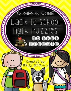 This is a sample of my Back To School Math NO PREP packet that will keep your… Problem Solving Activities, Fun Math Activities, Learning Support, Kids Learning, Learning Tools, School Resources, Math Resources, Secondary Math, Math Projects