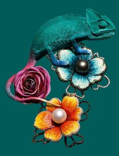 Chameleon and jewels. Vogue Gioiello September 2013 : Find The Jewels - Jewelry Photography, Still Life Photography, Fine Art Photography, Fashion Photography, Product Photography, Photography Ideas, High Jewelry, Jewelry Art, Unique Jewelry