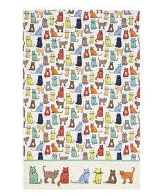 Look what I found on #zulily! Cat Walk Tea Towel #zulilyfinds