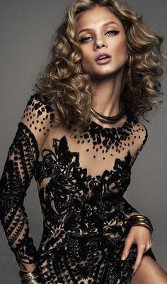 Anna Selezneva by Xavi Gordo in 'Rock & Sexy' for Elle Spain March 2014