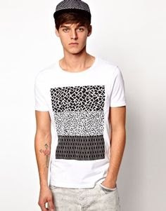 Enlarge ASOS T-Shirt With Pocket And Monochrome Print