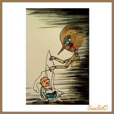 #postaleslimbo #ilustracion #pintadoamano #pinocho #susoleto