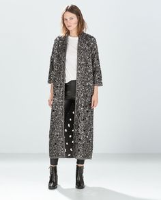 Image 1 of LONG EMBROIDERED JACKET from Zara