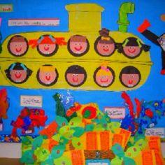 Toddler+Ocean+Art | Ocean unit. awesome bulletin board!