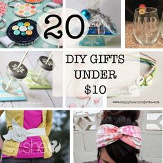 20 DIY Gifts under $10 #howdoesshe #gifts howdoesshe.com