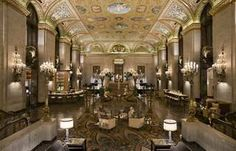Palmer House Hilton Chicago, IL- Centrally located and is as gorgeous as the day it was built!