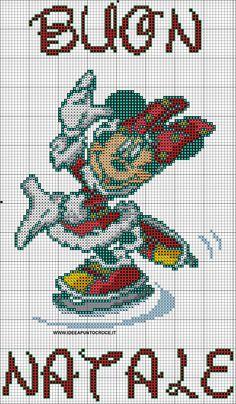Minnie Mouse x-stitch Minnie Baby, Mickey Y Minnie, Baby Disney, Minnie Mouse, Cross Stitch Freebies, Cross Stitch Charts, Cross Stitch Patterns, Mickey Mouse Characters, Mickey Mouse And Friends