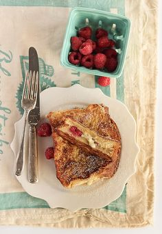 White Chocolate & Raspberry Brioche French Toast.