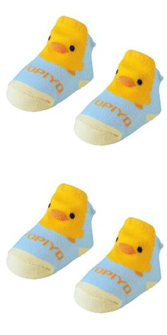 Piyo Piyo 3D Socks, Blue They come with a cute duck billed top sock that your child will love. Made with 80% combed cotton, the socks are air permeable and sweat absorbing to keep your child comfortable. Helps protect your baby's delicate feet while learning how to walk.  #Piyo_Piyo #Baby_Product